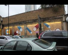 Impressive by day - the shoreditch art wall