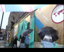 It rained more at the shoreditch art wall