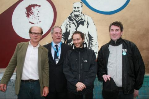 Lord Michael Bates at the london Art Wall