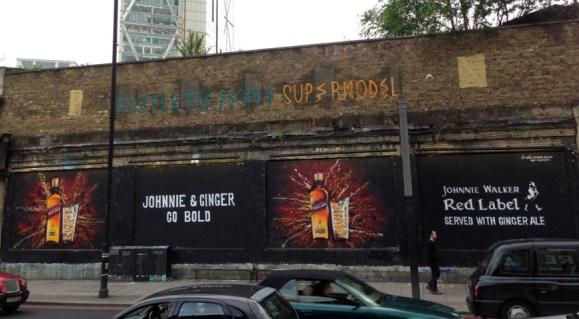 Johnnie & Ginger at the Shoreditch Art Wall