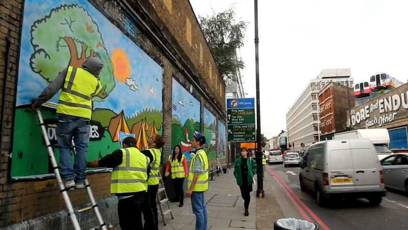 the Princes Trust at London Art Wall