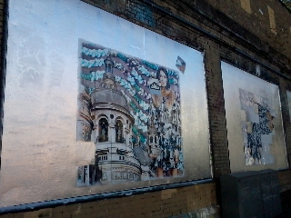 Roger Molloy for Printemps London and Paris Fashion Week at London Art Wall 11