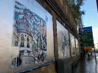 Roger Molloy for Printemps London and Paris Fashion Week at London Art Wall 12