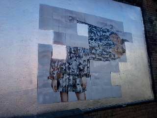 Roger Molloy for Printemps London and Paris Fashion Week at London Art Wall 13
