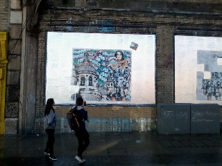 Roger Molloy for Printemps London and Paris Fashion Week at London Art Wall 14