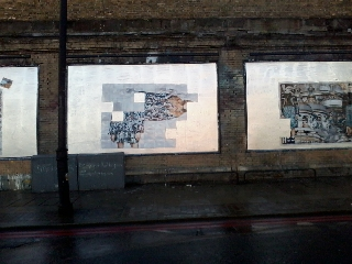 Roger Molloy for Printemps London and Paris Fashion Week at London Art Wall 15