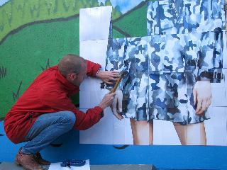 Roger Molloy for Printemps London and Paris Fashion Week at London Art Wall 21