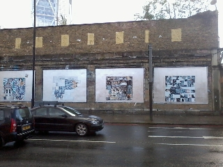 Roger Molloy for Printemps London and Paris Fashion Week at London Art Wall 7