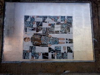 Roger Molloy for Printemps London and Paris Fashion Week at London Art Wall 8