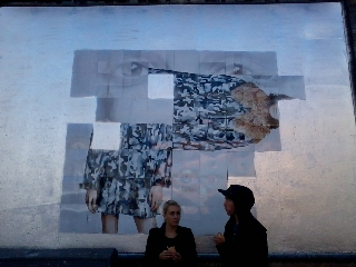 Roger Molloy for Printemps London and Paris Fashion Week at London Art Wall 9