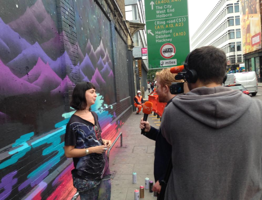 Art Beat for UNICEF at the Shoreditch Art Wall