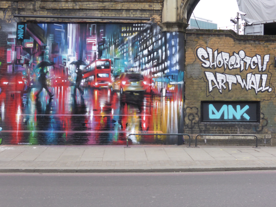 The Shoreditch Art Wall comes alive