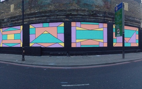 The Shoreditch Art Wall comes alive thanks to Caroline Derveaux-Berte