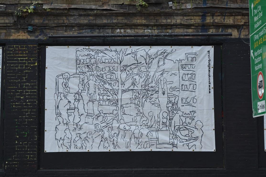Georgina-talfana's AROUND GREEN PARK on the Shoreditch Art Wall