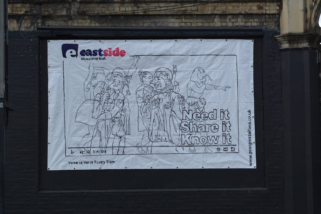 Georgina-talfana's EASTSIDE on the Shoreditch Art Wall