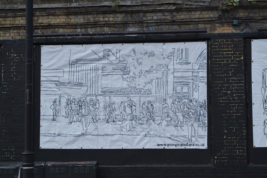 Georgina-talfana's CAMDEN on the Shoreditch Art Wall