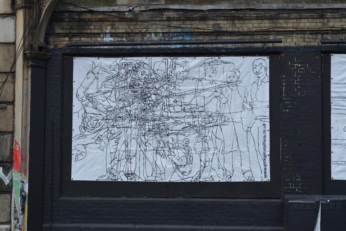 Georgina-talfana's NOISE on the Shoreditch Art Wall