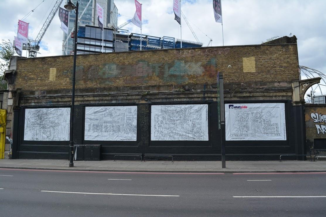 Georgina-talfana on the Shoreditch Art Wall