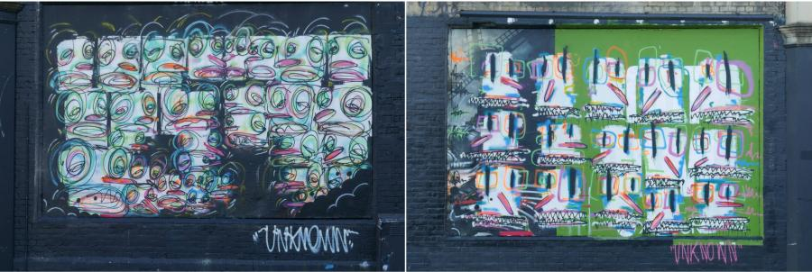 The Shoreditch Art Wall comes alive thanks to James Chuter and Anonymous