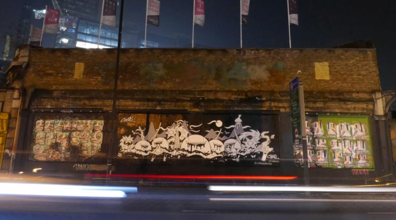The Shoreditch Art Wall comes alive thanks to James Churer and Anonymous