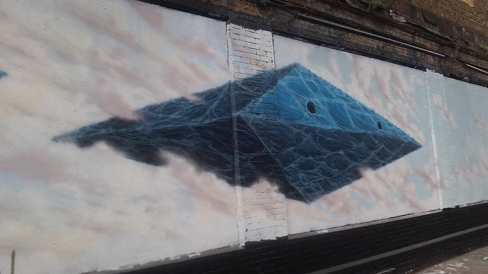 Leonardo Dal Bo on the Shoreditch Art Wall