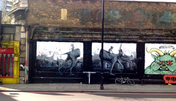 The Shoreditch Art Wall comes alive thanks to Lewis Campbell