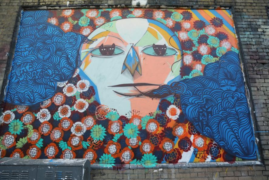 Ricardo Akn at Shoreditch Art Wall February 2014