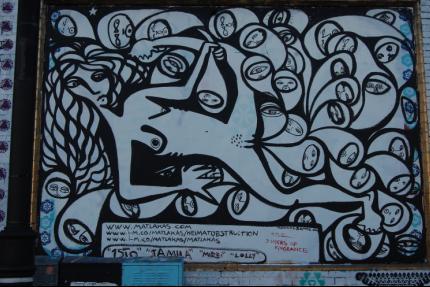 Riccardo Attansio at the Shoreditch Art Wall