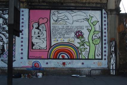 Riccardo Attansio Marriage Proposal bor Benhur at the Shoreditch Art Wall