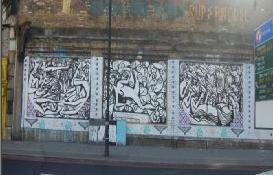 Riccardo Attanasio Matlakas on the Shoreditch Art Wall