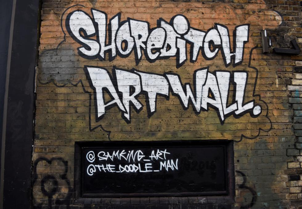 the Shoreditch Art Wall
