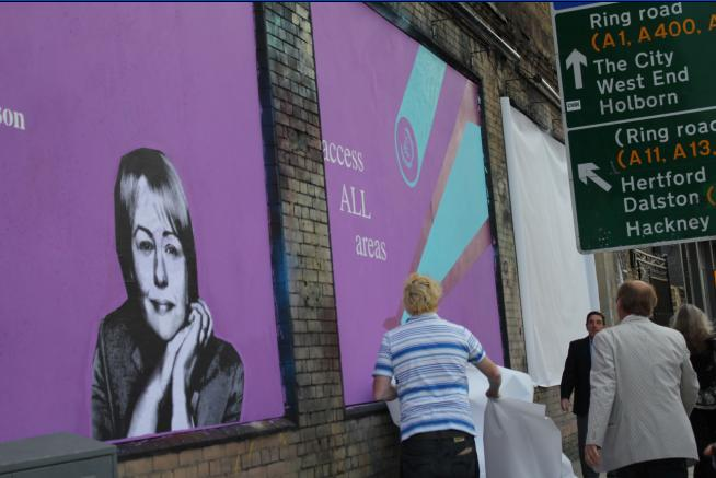 Baroness Grey-Thompson's Mural on the Shoreditch Art Wall