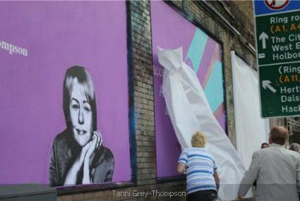 Tanni Grey-Thompson at the Shoreditch Art Wall