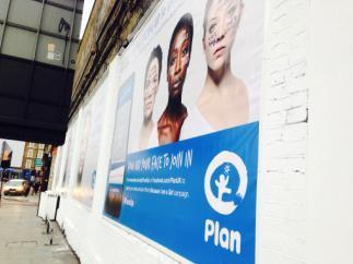 Beverley Knight for PLAN at the Shoreditch Art Wall