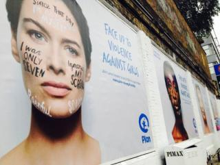 Lena Headey for PLAN at the Shoreditch Art Wall