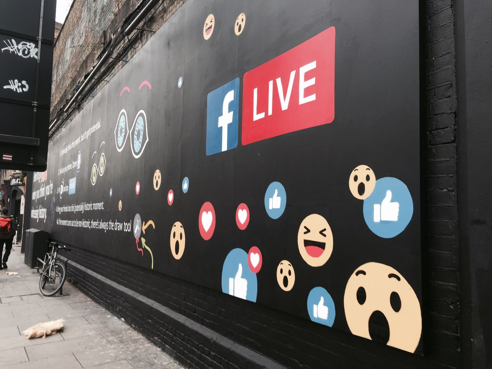 FACEBOOK LIVE on the Shoreditch Art Wall