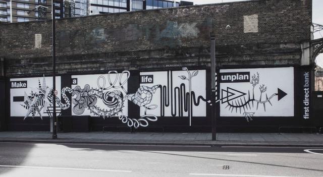 FFirst Direct Bank on the Shoreditch Art Wall