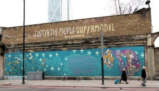 Foster the People, Supermodel on the Shoreditch Art Wall