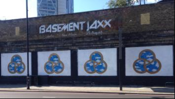 Graffiti Street for Basement Jaxx at the Shoreditch Art Wall