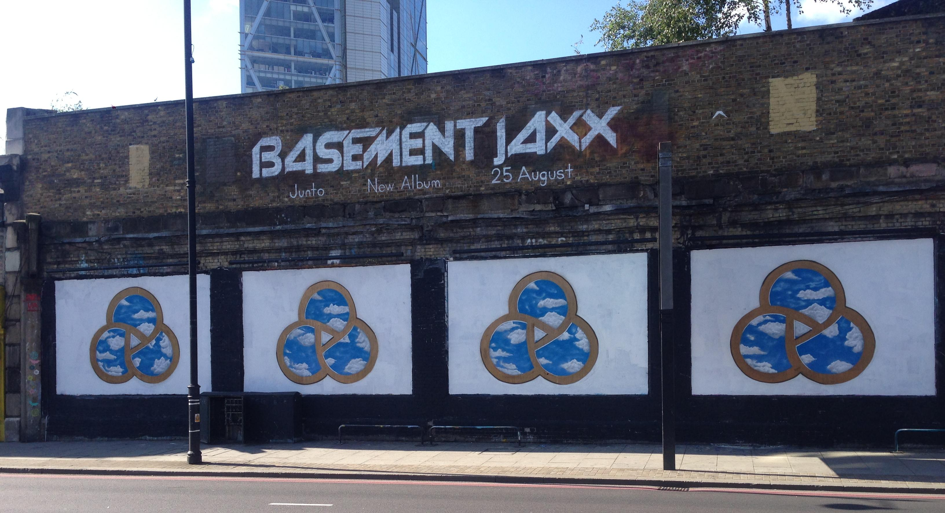 Basement JAXX on the Shoreditch Art Wall