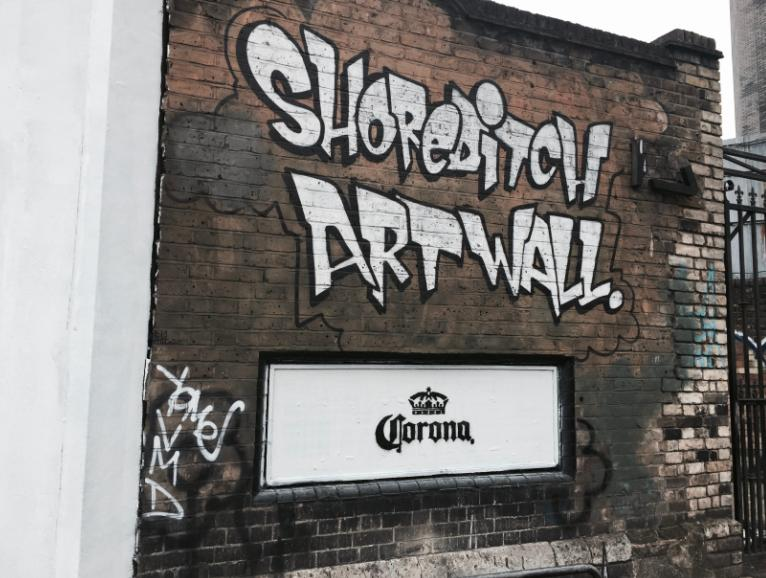 Corona at the Shoreditch Art Wall