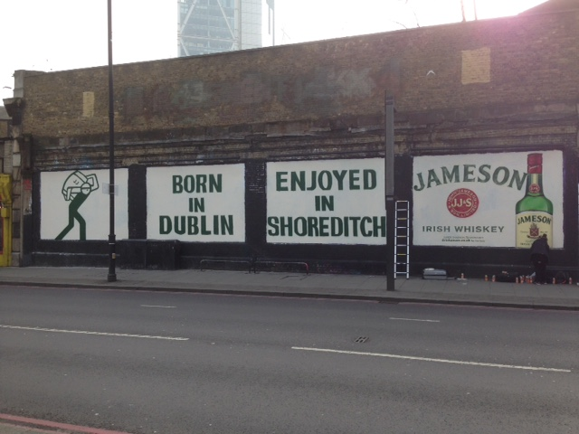 Jameson Whisky at the Shoreditch Ar Wall