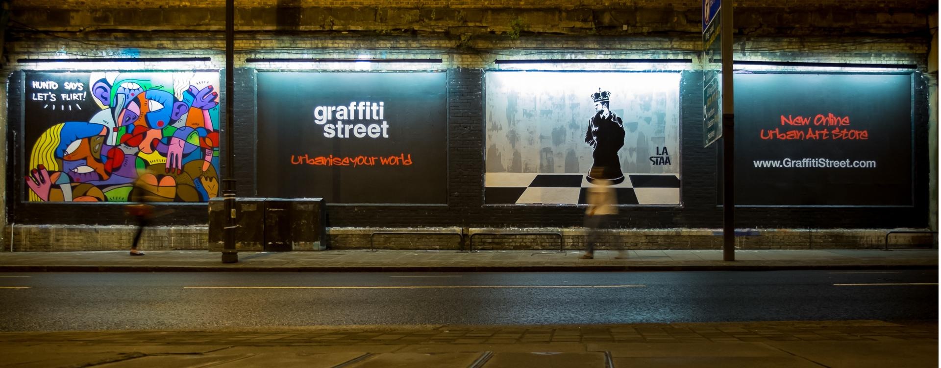 Graffiti Street Launch at the Shoreditch Art Wall