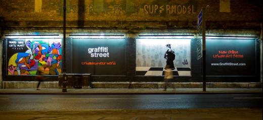 GraffitiStreet launch at the london Art Wall