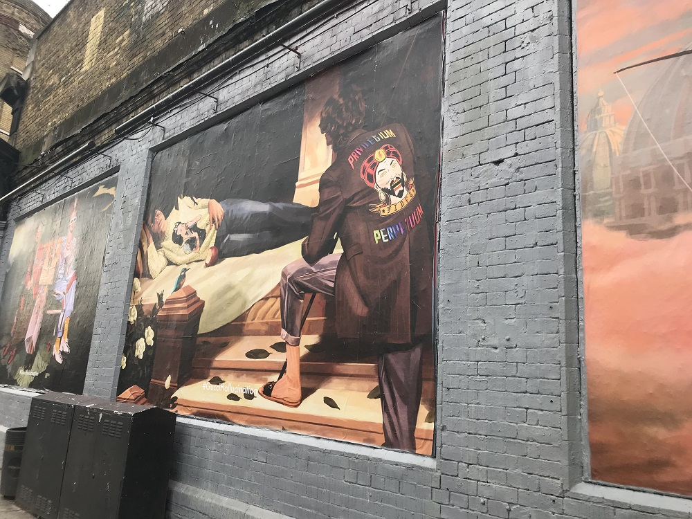 #GucciHallucnation for London Fashion Week on the Shoreditch Art Wall