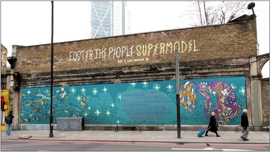 Foster the People's Supermodel at the Shoreditch Art Wall