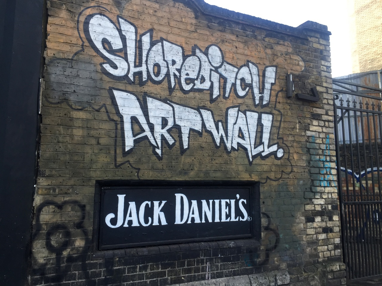 Jack Daniels at the Shoreditch Art Wall