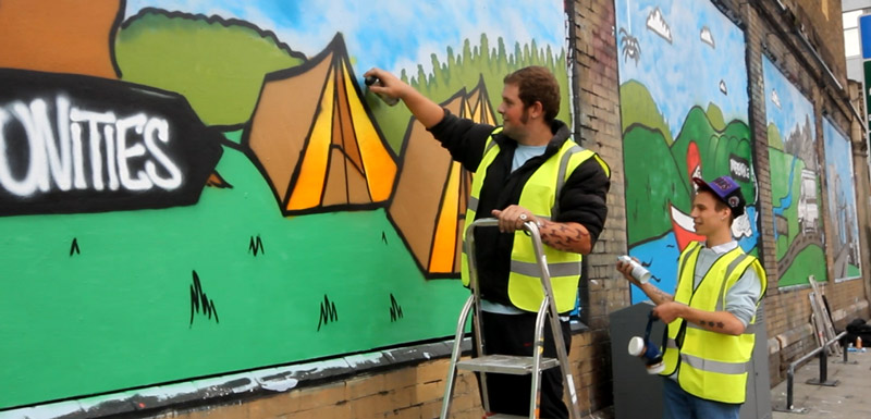 The Princes Trust at The Shoreditch Art Wall #3