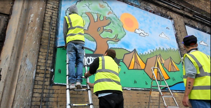 The Princes Trust at The Shoreditch Art Wall #2