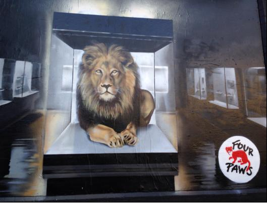 Four Paws - This is NOT a Trophy at the Shoreditch Art Wall